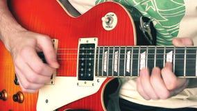 Guitarra eléctrica almacen de metraje de vídeo