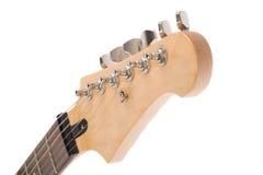 Guitarra eléctrica aislada en el fondo blanco Fotos de archivo libres de regalías