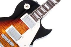 Guitarra eléctrica aislada en el fondo blanco Fotografía de archivo libre de regalías