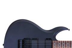 Guitarra eléctrica aislada en el fondo blanco Imagen de archivo