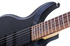 Guitarra eléctrica aislada en el fondo blanco Fotos de archivo