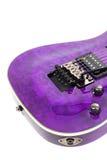 Guitarra eléctrica aislada en el fondo blanco Foto de archivo libre de regalías