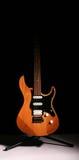 Guitarra eléctrica aislada en fondo negro Fotografía de archivo libre de regalías