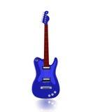 Guitarra eléctrica azul imagen de archivo libre de regalías