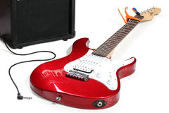 Guitarra eléctrica azul Fotos de archivo libres de regalías