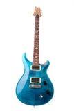 Guitarra eléctrica azul aislada Imagen de archivo