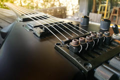 Guitarra eléctrica Cierre para arriba Guitarra eléctrica trasera Imágenes de archivo libres de regalías