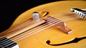 Guitarra eléctrica clásica Jazz Gyrating en horizontal en cierre para arriba almacen de video