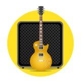Guitarra eléctrica con el amperio Foto de archivo libre de regalías