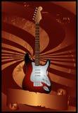Guitarra eléctrica con la bandera