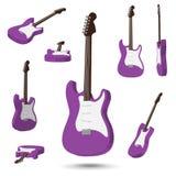 guitarra eléctrica 3D Imagen de archivo