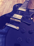 Guitarra eléctrica de Les Paul Style Fotografía de archivo libre de regalías