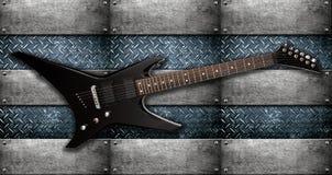 Guitarra eléctrica de metales pesados Fotografía de archivo libre de regalías