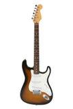 Guitarra eléctrica (defensa Stratocaster del resplandor solar) Foto de archivo libre de regalías