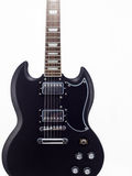 Guitarra eléctrica en el fondo blanco Fotos de archivo libres de regalías