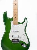 Guitarra eléctrica en el fondo blanco Imagen de archivo