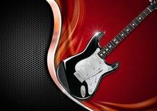 Guitarra eléctrica en fondo de lujo Fotos de archivo libres de regalías