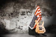 Guitarra eléctrica moderna Foto de archivo