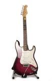 Guitarra eléctrica púrpura Imagenes de archivo