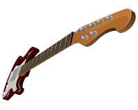 Guitarra eléctrica roja Fotografía de archivo libre de regalías
