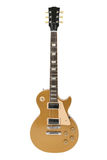 Guitarra eléctrica (tapa del oro de Gibson Les Paul) Fotografía de archivo