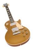 Guitarra eléctrica (tapa del oro de Gibson Les Paul) Fotografía de archivo libre de regalías