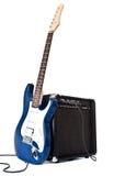 Guitarra eléctrica y amplificador Imágenes de archivo libres de regalías
