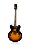 Guitarra elétrica bonita do preto e do ruivo Imagens de Stock Royalty Free