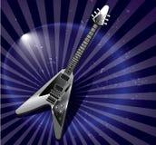 Guitarra elétrica do estilo do voo v fotografia de stock royalty free