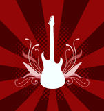 Guitarra elétrica do vetor Imagens de Stock