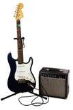Guitarra elétrica e ampère Foto de Stock
