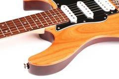 Guitarra elétrica isolada no fundo branco Fotos de Stock Royalty Free