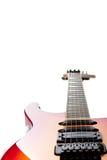 Guitarra elétrica no branco Foto de Stock