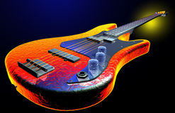 Guitarra elétrica quente Imagens de Stock