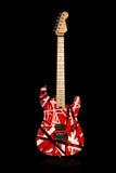 Guitarra elétrica vermelha e branca Foto de Stock