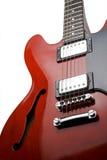 Guitarra elétrica vermelha ereta Imagem de Stock Royalty Free