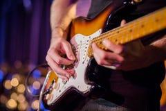 Guitarra electrónica imágenes de archivo libres de regalías