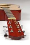 Guitarra em pesrpective com DOP raso imagem de stock