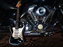 Guitarra en el camino otra vez ilustración del vector