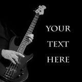Guitarra en manos con el texto-lugar Fotografía de archivo libre de regalías