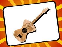 Guitarra en marco Imagen de archivo libre de regalías
