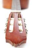 Guitarra espanhola no branco Fotos de Stock
