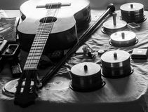 Guitarra faltante das cordas Fotografia de Stock Royalty Free