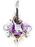 Guitarra floral artística ilustração do vetor