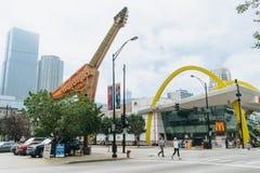 Guitarra gigante - logotipo Hard Rock Cafe foto de archivo