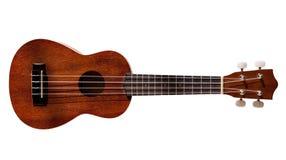 Guitarra havaiana do ukulele com as quatro cordas isoladas Imagens de Stock Royalty Free