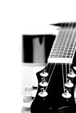 Guitarra. Imagem preto e branco. Fotografia de Stock Royalty Free