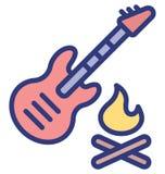 A guitarra isolou o ?cone do vetor que pode facilmente alterar ou editar ilustração stock