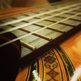 Guitarra macro Fotos de Stock Royalty Free