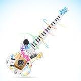 Guitarra musical ilustração stock
